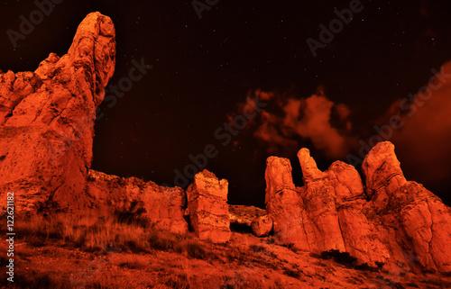 Kayalıklardaki  Yıldız İzleri