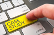 Hand Touching Case Study Keypad. 3D.