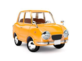 retro car orange 1960