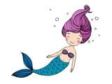 Beautiful Little Mermaid Wall Sticker