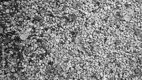 Black and White gravel Background with Blank Copy Space for Text or Advertising