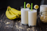 banana smoothie with oatmeal ,vegetarian breakfasts
