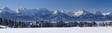 Panorama der Alpen im Allgäu bei Füssen