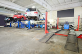 Interior of a car repair garage