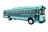 Autobús azul 3d aislado