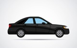 car vehicle black isolated vector illustration design