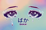 Crying eyes in anime or manga style.