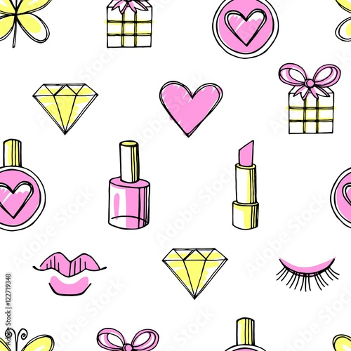 Cotton fabric Fashion vector seamless pattern.