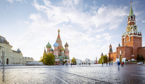 Aluminium Moskou Panorama of Red Square in Moscow, Russia