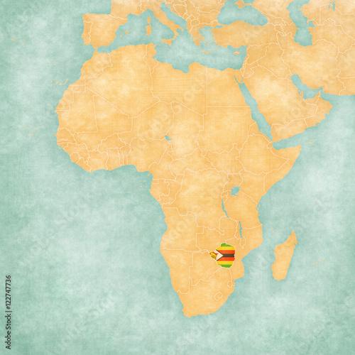 Map Of Africa Zimbabwe.Map Of Africa Zimbabwe Buy Photos Ap Images Detailview