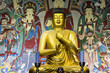 Golden Buddha in the ancient temple
