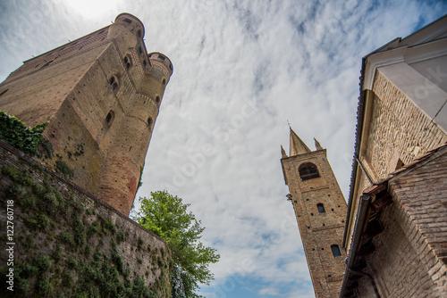 Poster Piemonte - Le Langhe terra di vino e castelli