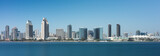Panoramic view of the San Diego Skyline from Coronado Island in San Diego, California - 122763549