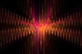 Cobweb whirls abstract sinusoidal crossroad wave