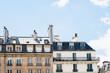 Haussmann apartment buildings in Paris