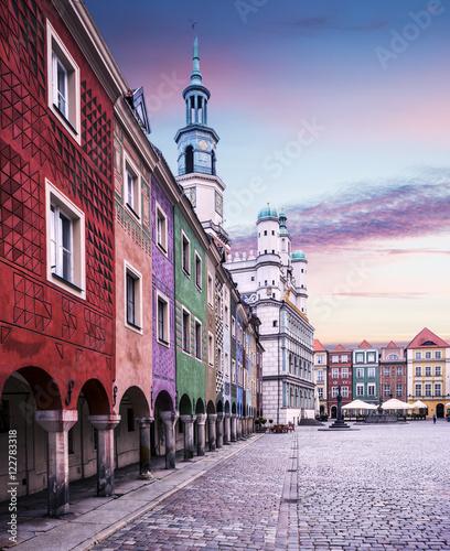Obraz na płótnie Stary rynek w Poznaniu, Polska