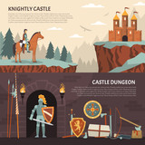 Medieval Knight Horizontal Banners
