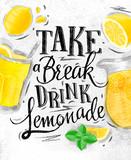 Poster lemonade coal - 122800578