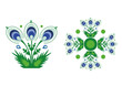 Flowers - folk cut-out art