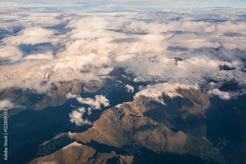 Aerial view of Italian Alps - 122809353
