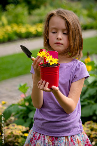 Poster 8 year old girl also enjoys gardening