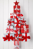 Fototapety Christmas tree of gift boxes