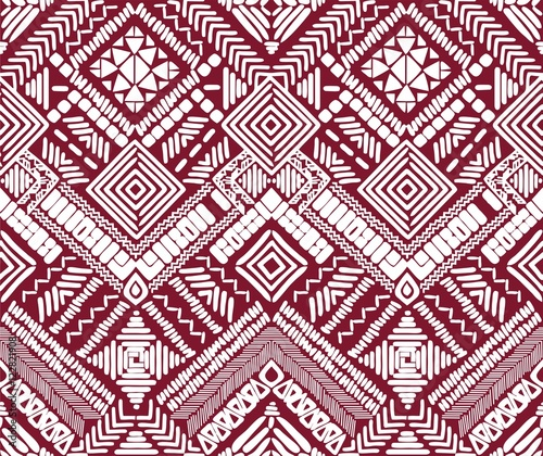 Aztec seamless vector pattern - 122821908