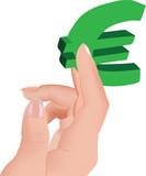 euro fra le dita