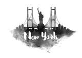 Watercolor New York City Skyline - 122840526