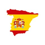 map classic icon of Spanish culture vector illustration design