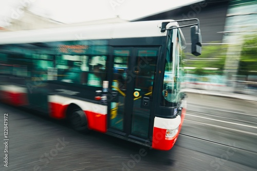 Bus of the public transport - 122847972