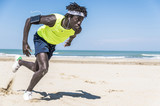 Athlete running man