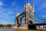 Tower Bridge (1886 - 1894) over Thames - iconic symbol of London