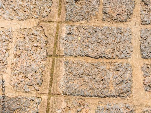 In de dag Stenen Abstract grid tiles rock pattern floor