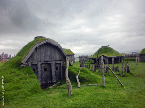 Viking village abandoned in southern Iceland Poster
