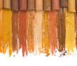 brown crayons