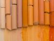 orange artistic crayons