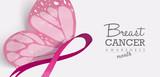 Breast cancer butterfly for social media header