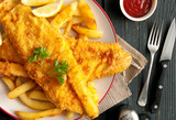 Fish and chips - 122892313