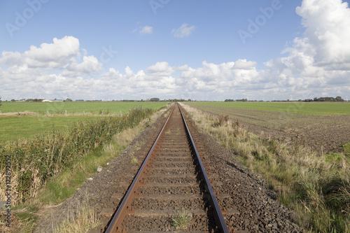 Deurstickers Eisenbahnschienen