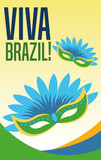 Mask icon. Brazil culture america and tourism theme. Colorful design. Vector illustration