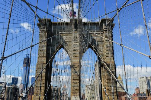 New York Skyline from Brooklyn Bridge Poster