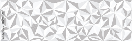 low polygonal white background
