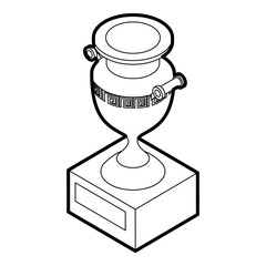 Ancient vase icon in outline style on a white background vector illustration