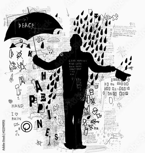 Мужчина с зонтом  © moypapaboris