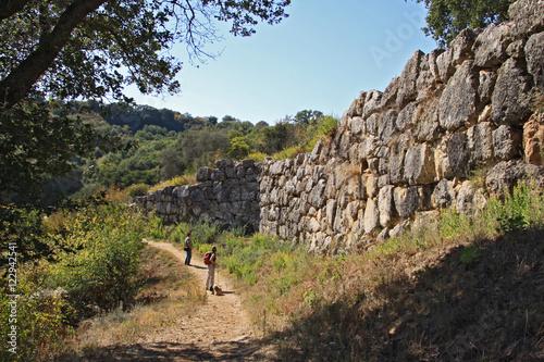 Deurstickers Toscane Roselle mura etrusche