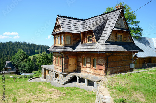 Wooden house in the mountains (The Tatras in Poland)