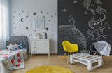 Fototapety Child room in cosmic style