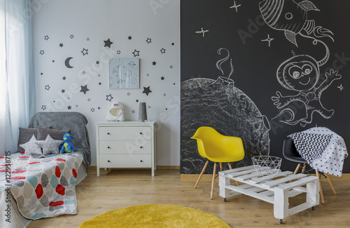 Child room in cosmic style