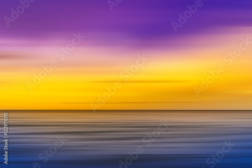 abstract motion blur sea in colorful filter and vintage filter